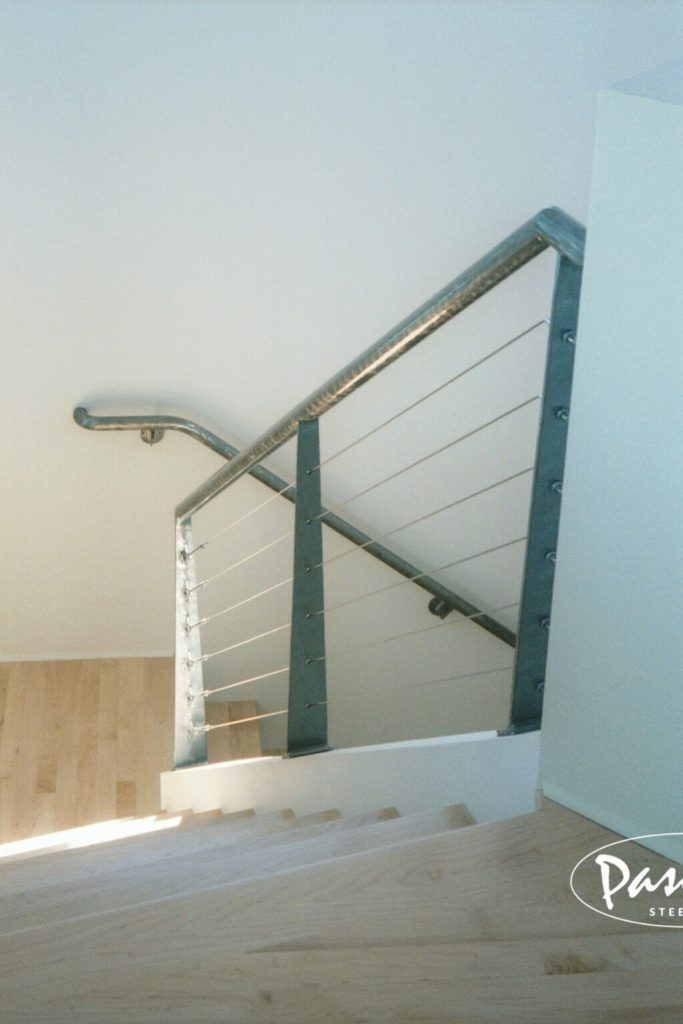 cable stair railing residential interior pascetti steel design inc