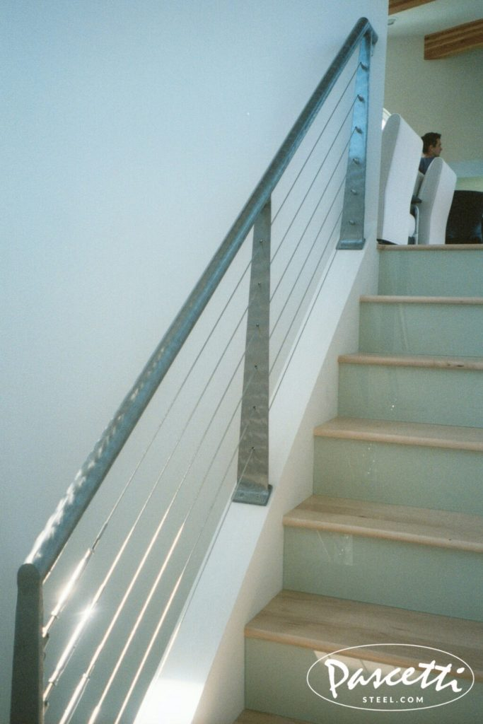 Cable Stair Railing Residential Interior Pascetti