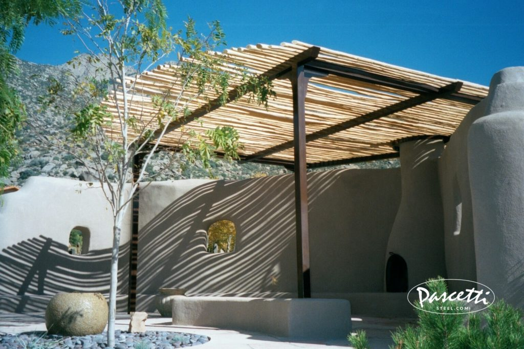 Residential shade structure pascetti steel design inc for Steel shade structure design