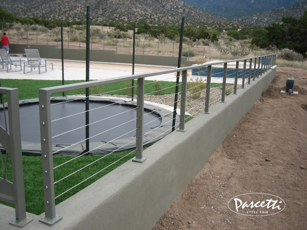 Cable Fence Railing Residential Designs Pascetti Steel