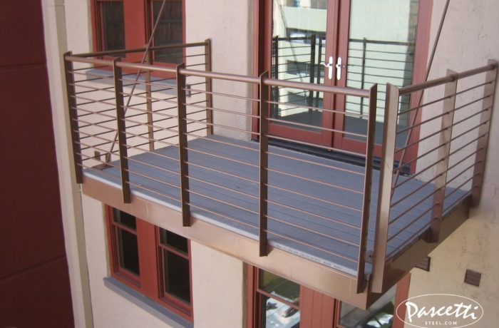 Balcony Systems Banque Lofts Abq Pascetti Steel