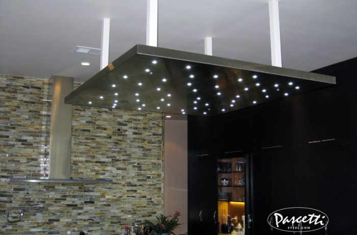 Stainless Steel Panel Kitchen Lighting. «