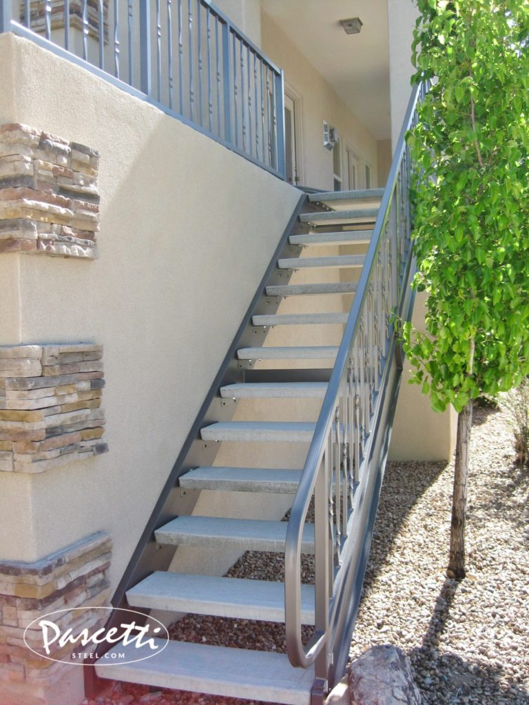 Residential Exterior Stairs Pascetti Steel Design Inc
