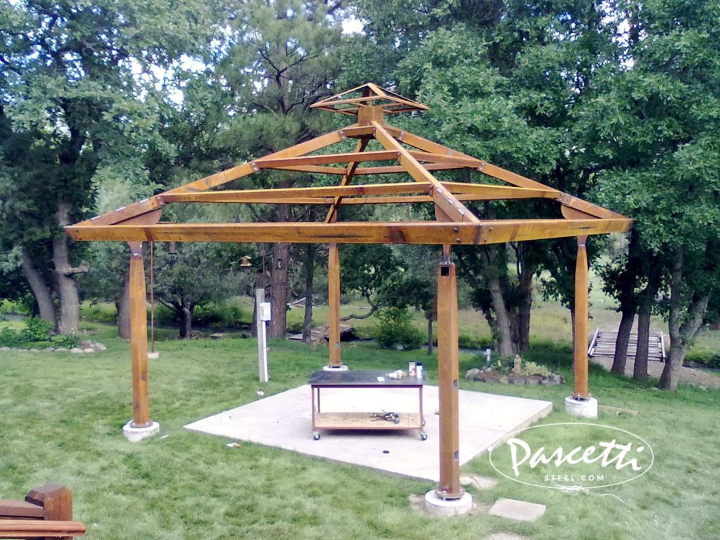 Steel gazebo pascetti steel design inc for Steel shade structure design