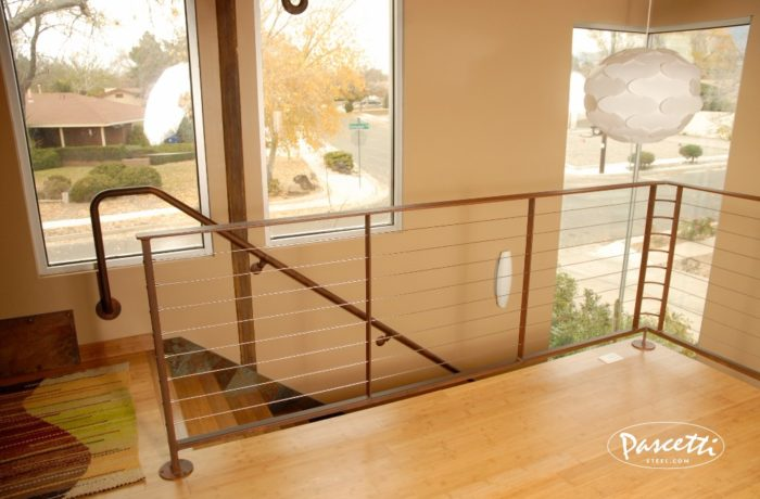Interior Stair And Loft Cable Railing. «