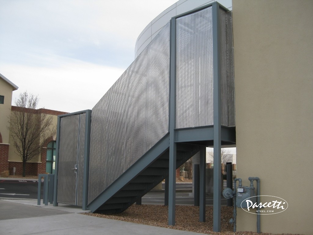 Perforated Panel Railing Pascetti Steel Design Inc