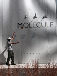 molecule shipping container structure