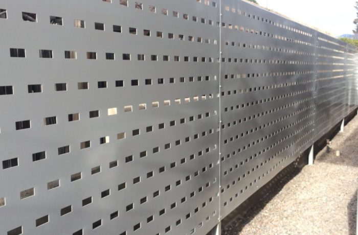 Perforated Metal Fencing Pascetti Steel Design Inc