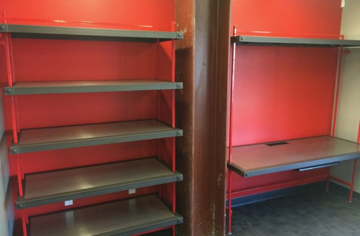 Industrial Shelving and Desk