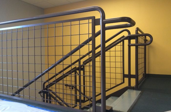 Air Force Base Mesh Panel Railing