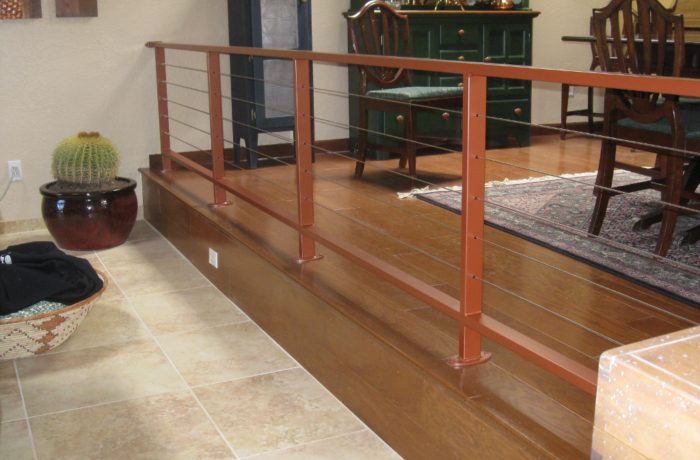 Orange Interior Cable Railing
