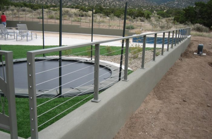 Exterior Powder Coated Cable Fencing