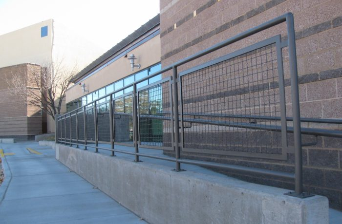 Mesh Infill Railing Pascetti Steel Design Inc