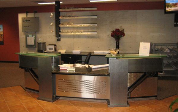Perforated Steel Reception Area