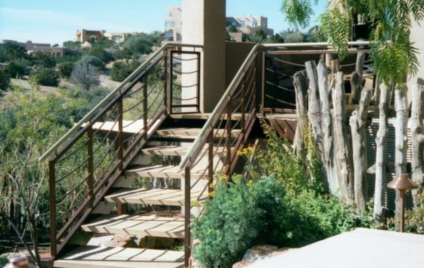 Custom Access Stair and Railing System