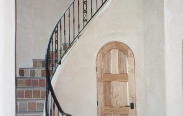 Custom Steel Spiral Stair Rail