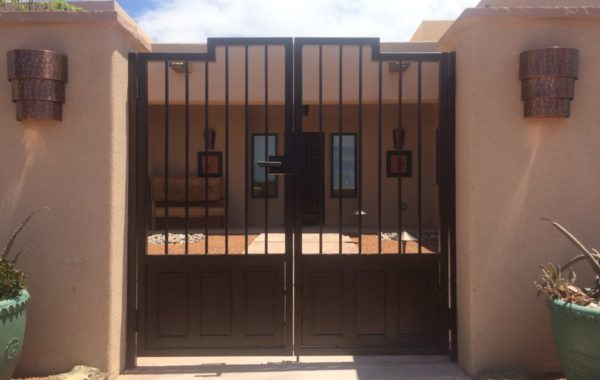 Contemporary Rod Infill Gates