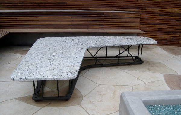 Outdoor Steel Coffee Table