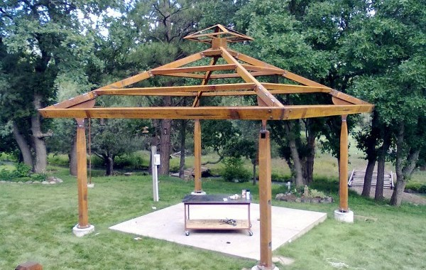 Custom Steel Gazebo Shade Structure