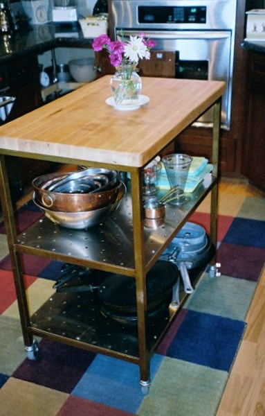 Custom Steel Kitchen Island