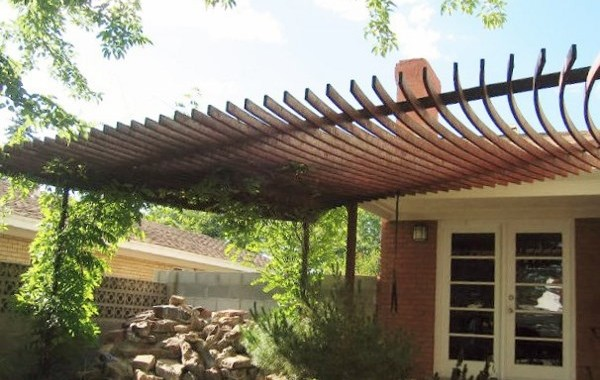 Residential Awning with Rusty Finish