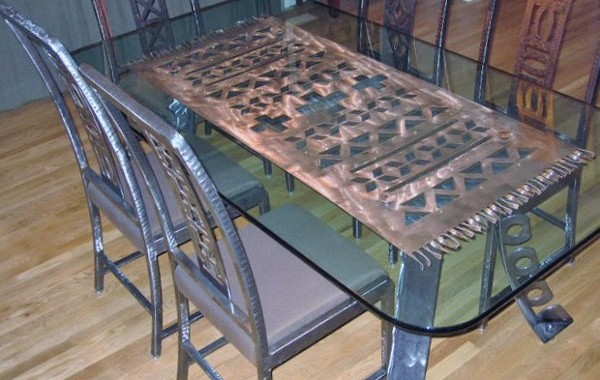 Steel Table with Matching Chairs