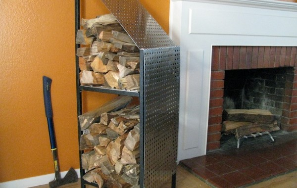 Funky Wood-Firewood Storage Rack