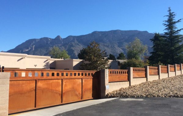 Natural Rust Finish Residential Gates