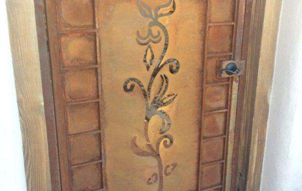 Plasma Cut Floral Design Gate