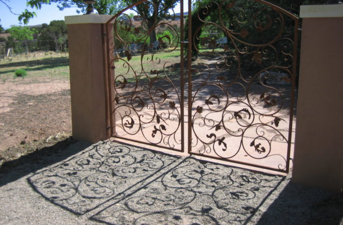 Intricate Hand Forged Vine Gate