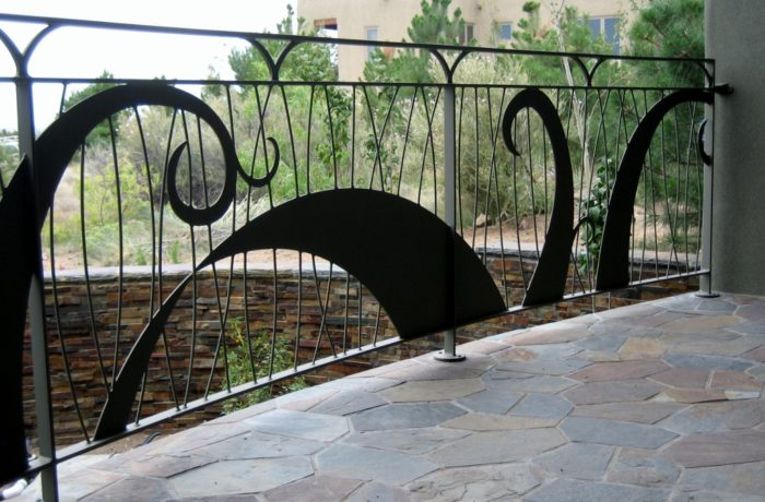 Steel Railings with Accent Panels