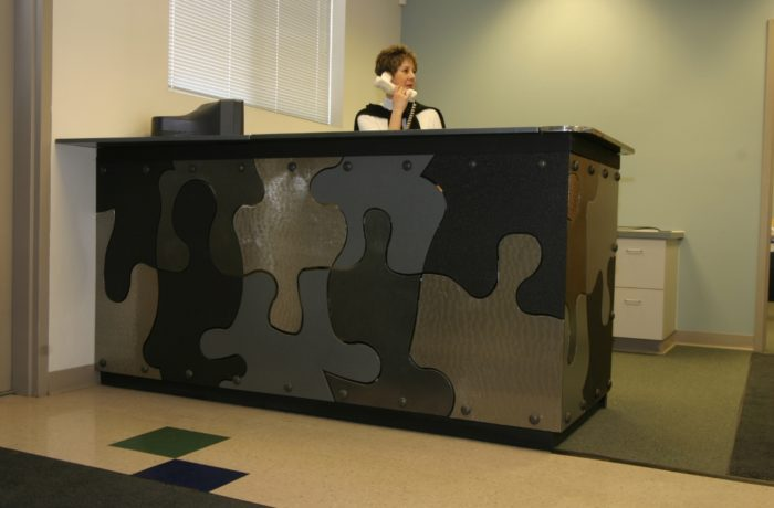 Puzzle Piece Reception Desk