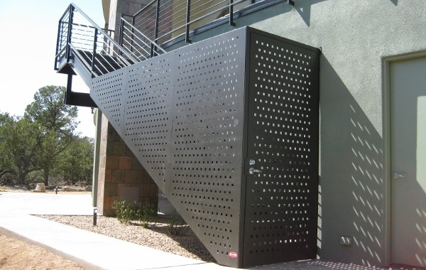 Perforated Metal Enclosed Entry