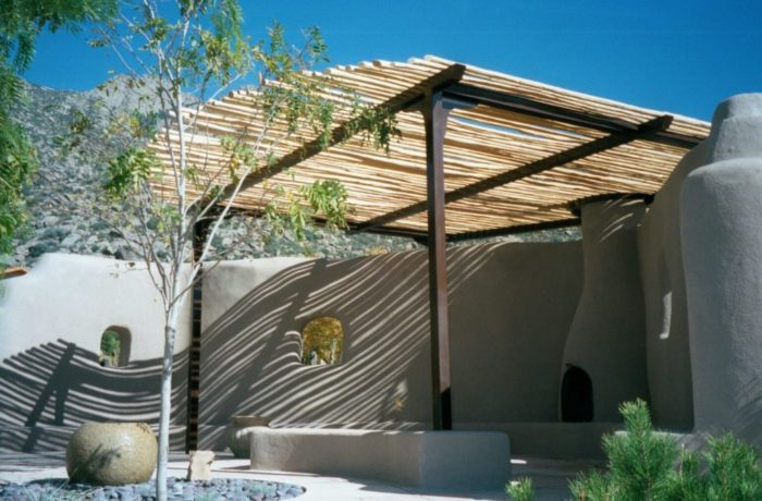 Shade Structure with Wood Latillas