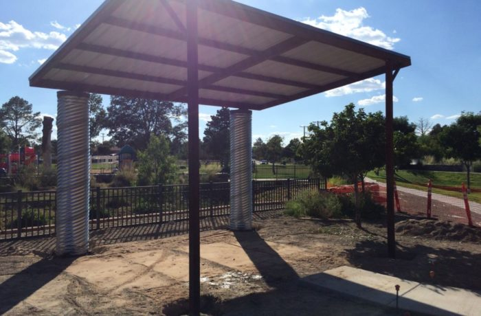 Water Collection Shade Structure