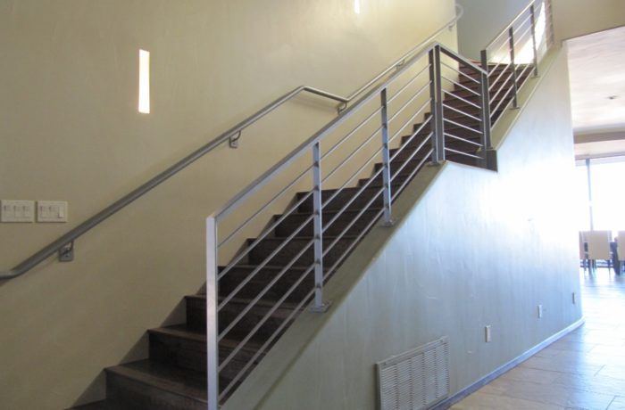 Sleek Steel Stair Railings