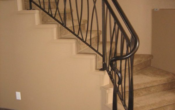 Custom Steel Powder Coated Stair Railing