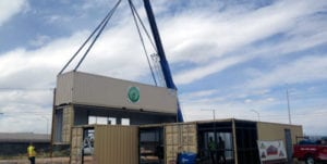 steel shipping container structure green jeans farmery
